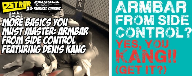 More basics you must master: Armbar from side control featuring Denis Kang