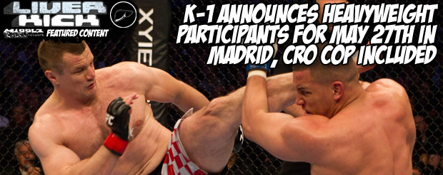 K-1 announces heavyweight participants for May 27th in Madrid, Cro Cop included