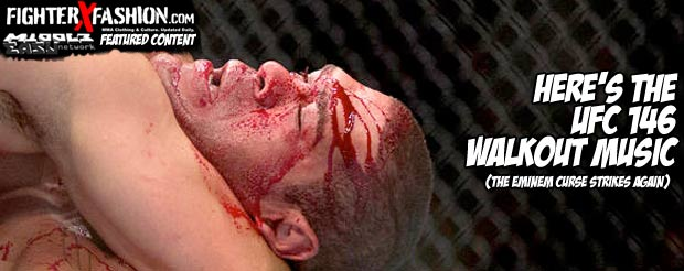 Here's the UFC 146 walkout music (the Eminem Curse strikes again)