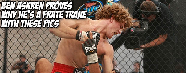 Ben Askren proves why he's a frate trane with these pics
