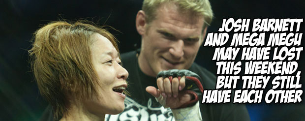Josh Barnett and Mega Megu may have lost this weekend, but they still have each other