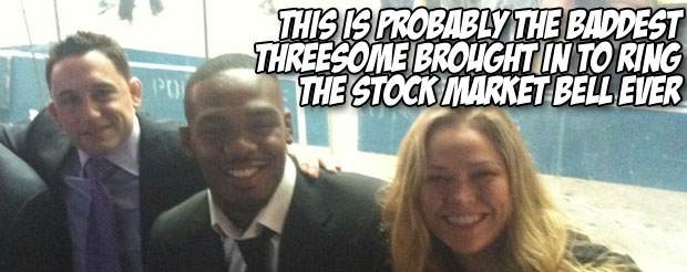 This is probably the baddest threesome brought in to ring the stock market bell ever