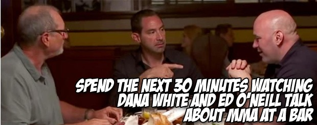 Spend the next 30 minutes watching Dana White and Ed O'Neill talk about MMA at a bar