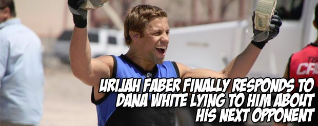 Despite being unhappy Urijah Faber is promising an awesome fight against Renan Barao
