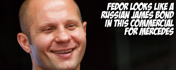 Fedor looks like a Russian James Bond in this commercial for Mercedes