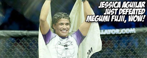 Jessica Aguilar just defeated Megumi Fujii, wow!