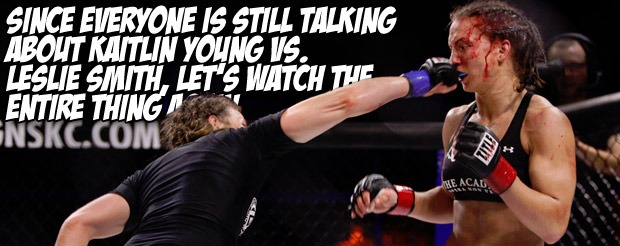 Since everyone is still talking about Kaitlin Young vs. Leslie Smith, let's watch the entire thing again