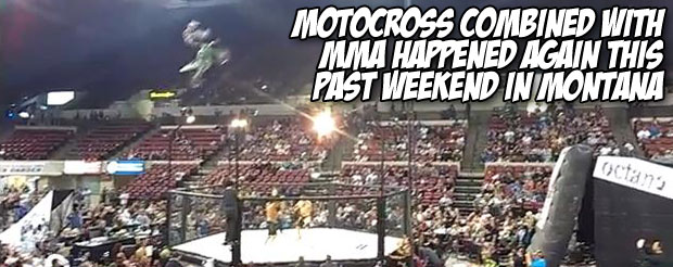 Motocross combined with MMA happened again this past weekend in Montana