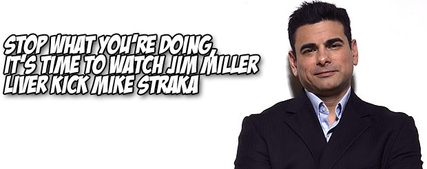 Stop what you're doing, it's time to watch Jim Miller liver kick Mike Straka