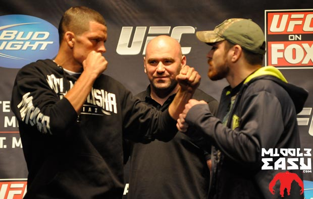 We expected a physical throwdown at the Nate Diaz vs. Jim Miller weigh-in, here's what happened instead