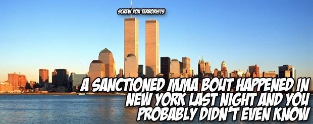 A sanctioned MMA bout happened in New York last night and you probably didn't even know
