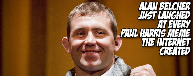 Alan Belcher just laughed at every Paul Harris meme the internet created