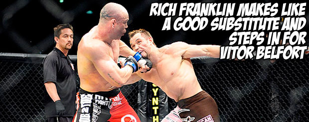 Rich Franklin makes like a good substitute and steps in for Vitor Belfort