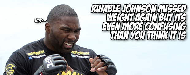 Rumble Johnson missed weight again but its even more confusing than you think it is
