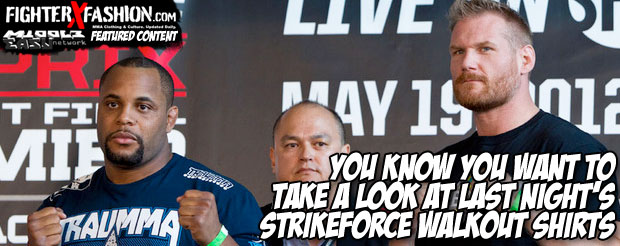 You know you want to take a look at last night's Strikeforce walkout shirts