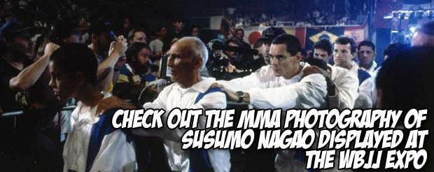 Check out the MMA photography of Susumo Nagao displayed at the WBJJ expo