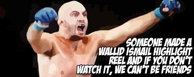 Click on this link if you want to see Ariel Helwani put a microphone in Wallid Ismail's face