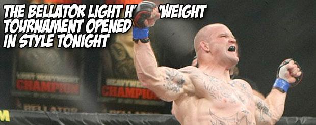 The Bellator light heavyweight tournament opened in style tonight