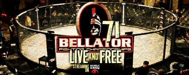 Watch Bellator 71 LIVE on MiddleEasy 6pm EST/ 3pm PST