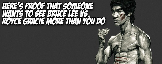 If you ever wanted to see Bruce Lee vs. Royce Gracie, look no further than this video