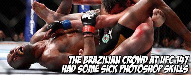 The Brazilian crowd at UFC 147 had some sick photoshop skills