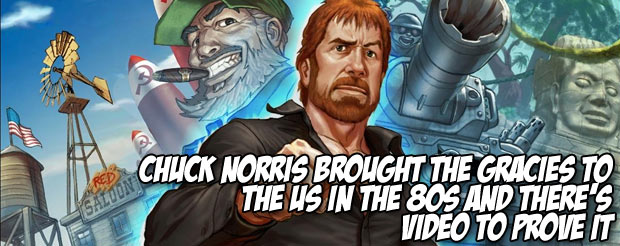 Chuck Norris brought the Gracies to the US in the 80s and there's video to prove it