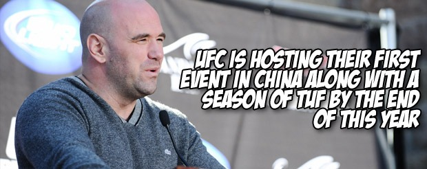 UFC is hosting their first event in China along with a season of TUF by the end of this year