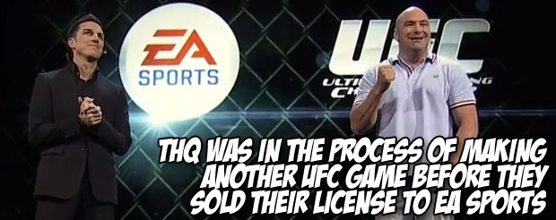 THQ was in the process of making another UFC game before they sold their license to EA Sports