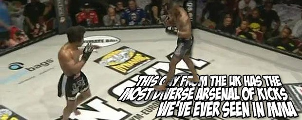 This guy from the UK has the most diverse arsenal of kicks we've ever seen in MMA