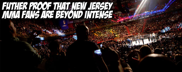 Futher proof that New Jersey MMA fans are beyond intense