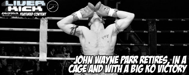 John Wayne Parr retires, in a cage and with a big KO victory
