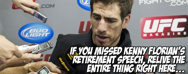 If you missed Kenny Florian's retirement speech, relive the entire thing right here…