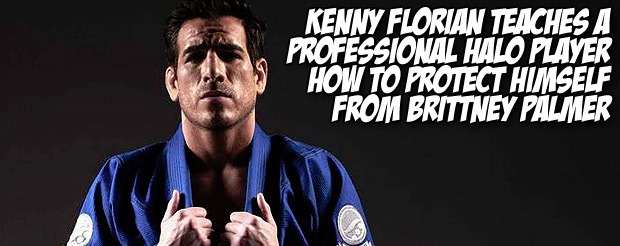 Kenny Florian teaches a professional Halo player how to protect himself from Brittney Palmer