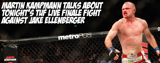 Martin Kampmann talks about tonight's TUF Live Finale fight against Jake Ellenberger
