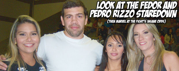 Look at the Fedor and Pedro Rizzo staredown (then marvel at the fight's insane odds)