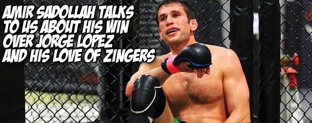 Amir Sadollah talks to us about his win over Jorge Lopez and his his love of Zingers