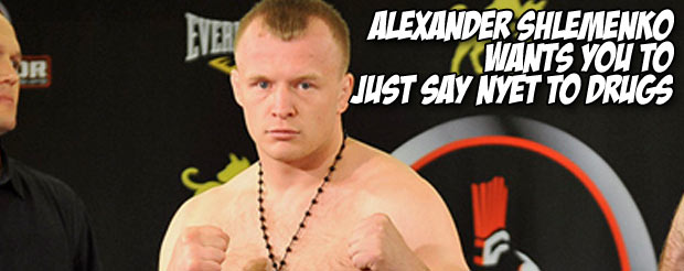Alexander Shlemenko wants you to just say nyet to drugs