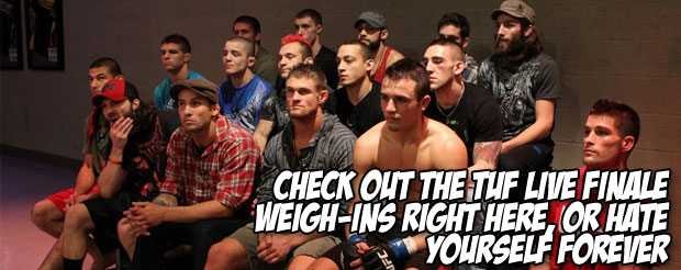 Check out the TUF Live Finale Weigh-ins right here, or hate yourself forever