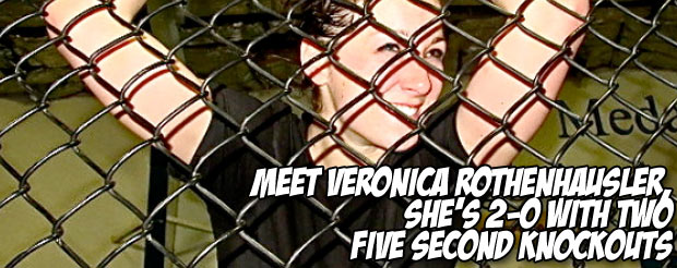 Meet Veronica Rothenhausler, she's 2-0 with two five second knockouts