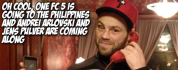 Oh cool, ONE FC 5 is going to the Philippines and Andrei Arlovski and Jens Pulver are coming along