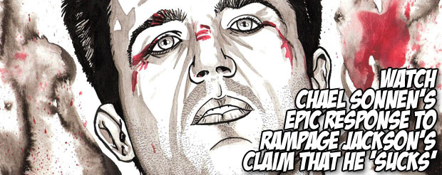 Watch Chael Sonnen's epic response to Rampage Jackson's claim that he 'sucks'
