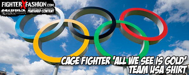Cage Fighter 'All We See is Gold' Team USA T-shirt