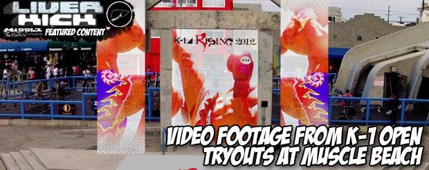 Video footage from K-1 Open Tryouts at Muscle Beach