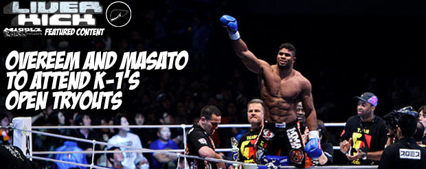 Overeem and Masato to attend K-1's open tryouts