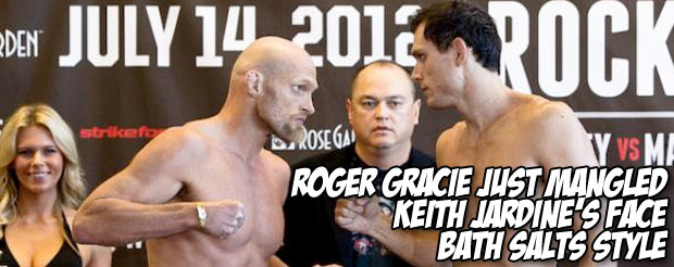 Roger Gracie just mangled Keith Jardine's face bath salts style