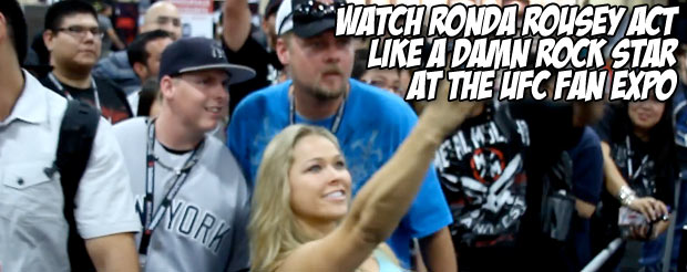 Watch Ronda Rousey act like a damn rock star at the UFC Fan Expo