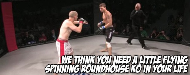 We think you need a little flying spinning roundhouse KO in your life
