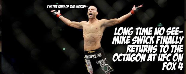 Long time no see – Mike Swick finally returns to the Octagon at UFC on FOX 4