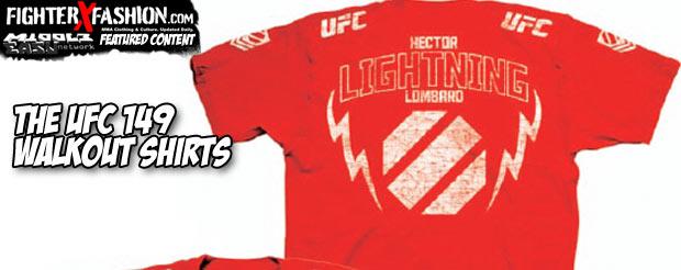 The UFC 149 walkout shirts