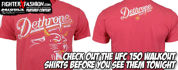 Check out the UFC 150 walkout shirts before you see them tonight